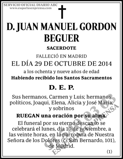 Juan Manuel Gordon Beguer
